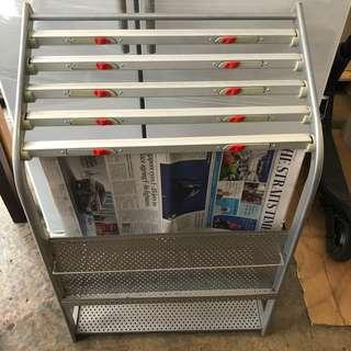 Used newspapers stand