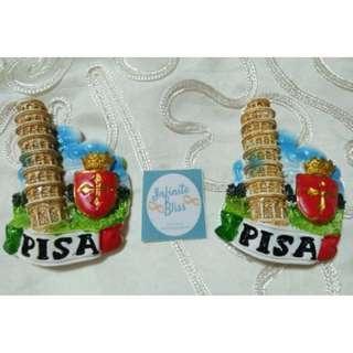 Pisa italy Ceramic Travel Souvenir Ref magnet