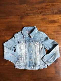 GAP kids denim jeans jacket sz S