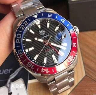 TAG HEUER 豪雅 AQUARACER 藍紅 黑籃 GMT WAY201F 促銷大特價