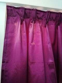 """💝全新🆕 窗簾 NEW CURTAIN 紫紅玫瑰色 拿回家就可用1幅 配有叉帶 30""""×54""""(115cm×137cm)以內尺寸均可 適用於工人房士多房書房等"""