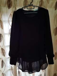 Poplook peplum blouse