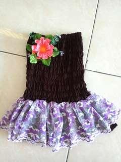 Dress anak atas full karet (1 thn)