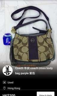 Coach 手袋 purple crossbody