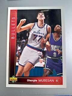 Gheorghe Muresan 93 94 nba card upper deck