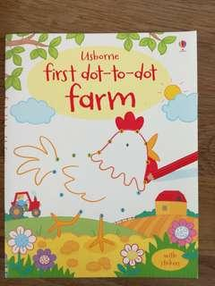 🚼Usborne Dot-to-dot Sticker book 幼兒運筆畫冊