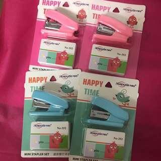 釘書機套裝 粉紅粉藍 一套四件