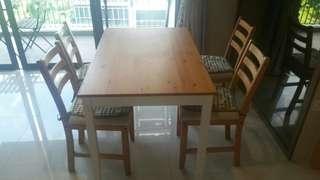 Barely Used Ikea Dining Set