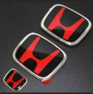 🚚 JDM BLACK BASE RED H EMBLEM FOR HONDA VEZEL HRV SHUTTLE MOBILIO FREED ODYSSEY CIVIC FD CIVIC FC CIVIC FB STREAM RSZ STREAM RN6 FIT JAZZ INTEGRA CITY AIRWAVE ACCORD EURO R