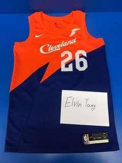 Kyle Korver Cavaliers City Edition SW Jersey With sponsor patch