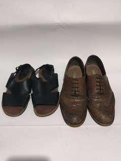 Zara Brown shoes @EU 39 , H&M x Marni sandals @EU 38 (Two for 💰!!,兩對一個價錢😍)
