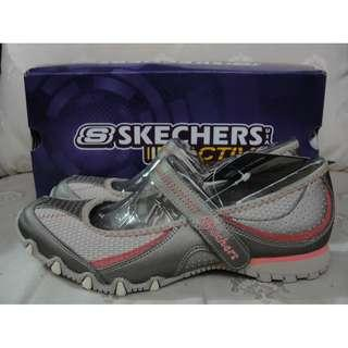 Authentic Skechers Active Bikers Surreal Taupe Size 5