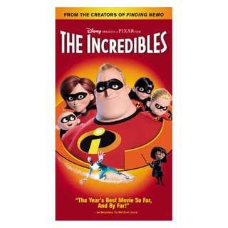 DVD (DVD & BOX ONLY, NO COVER ART) - THE INCREDIBLES (ORIGINAL USA IMPORT CODE 1)