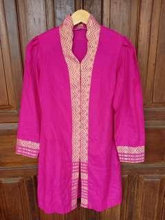 Kebaya Kutu Baru pink / kebaya songket pink fushia