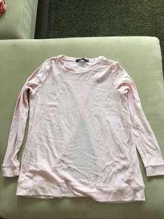 Sportsgirl pink fleecy top