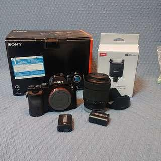 Sony A7 kit set with flash HVL - F20M