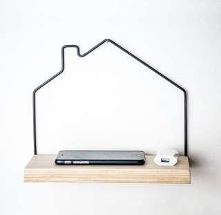 🚚 minimalistic home outline shelf