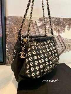 全皮 Chanel 少有金鏈條上肩袋