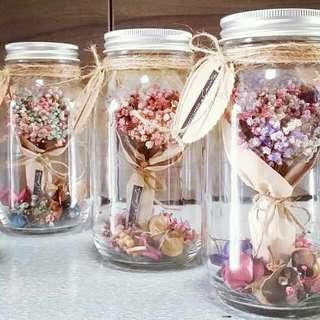 Mason Jar Flower Bouquet