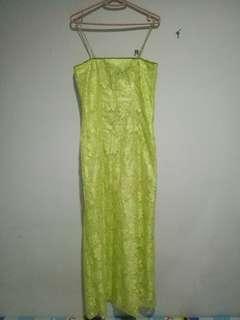 Soft Green Long Dress