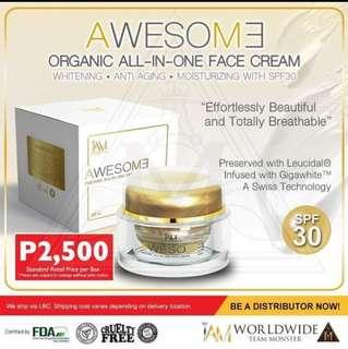 Organic all-in-one face cream