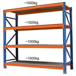 Super Heavy Duty Shelving System (Blue/Orange)