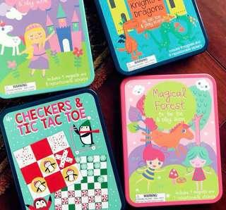 🚚 Magnetic tic tax toe and reusable sticker play scene