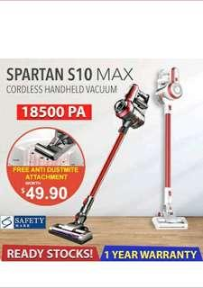 【Introductory Offer】SPARTAN S10 MAX 14kPA/18.5kPA Suction Power | Cordless Vacuum