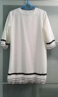 全新中袖白色連身裙 #sellmar19