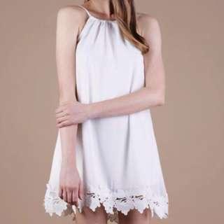 🚚 TTR Laine Crochet Dress in White M