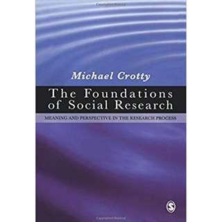 The Foundations of Social Research: Meaning and Perspective in the Research Process Paperback – 26 Aug 1998