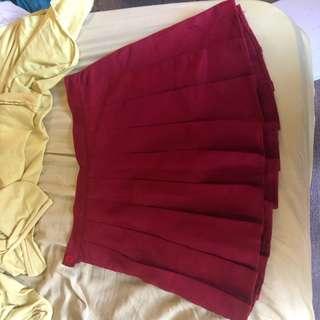 BNWOT Red tennis skirt/skort