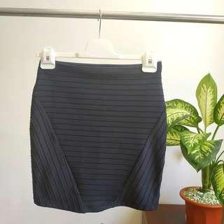 Bershka Black Span Skirt