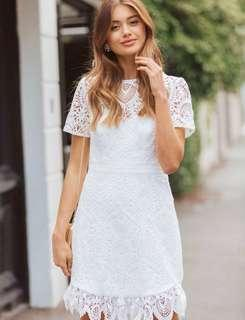 Ori forever new white lace dress