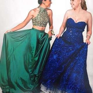 Emerald Green Sherri Hill Two Piece Dress