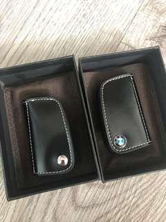 🚚 High quality leather black BMW key fob pouch for e90 e91 e92 series