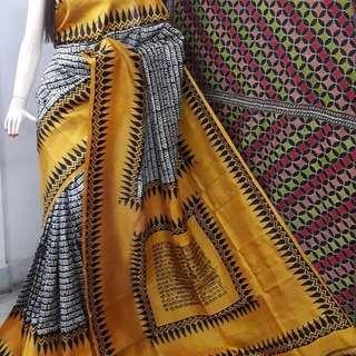 🚚 Handpainted Sarees on pure silks and zari tussars