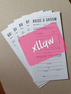 🚚 Wedding Game Card for Guests