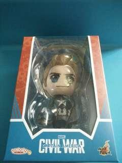 Brand New Original Hot Toys Cosbaby Marvel Civil War Capttain America Steve Rogers