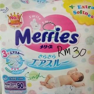 Merries size Newborn NB90