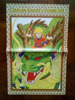 Naruto x Dragon Ball Mini Poster