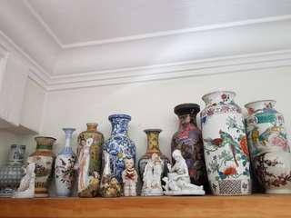 Chinese Vases, Porcelain figurines