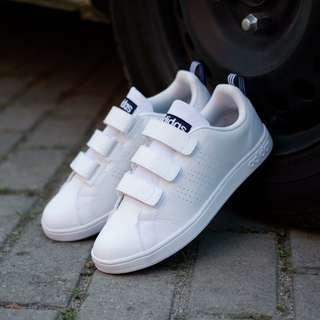 SALE! Adidas neo advantage Velcro white list navy