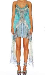 Camilla Topkapi Split front silk dress BNWT RRP $599
