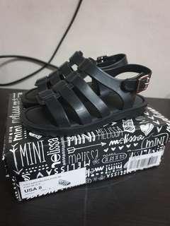 Mini Melissa Flox Black Size 8