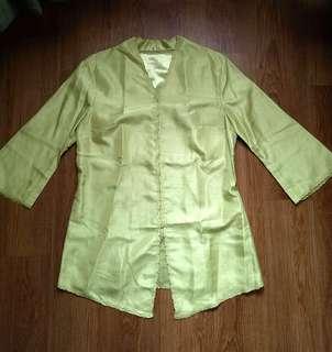 Lime Green Kebaya Encim