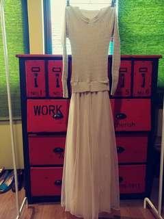 🚚 針織紗裙長洋裝