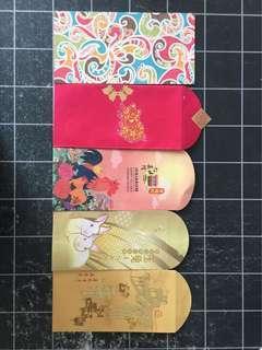 Various Ang pow red packets