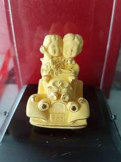 Pure 999 gold Wedding in Car 888 figuring