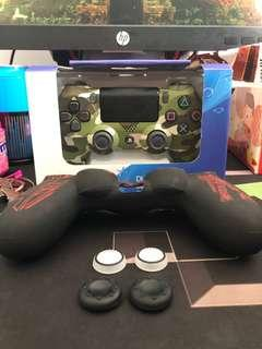🚚 PS4 Controller - Camo ( Silicone Skin And Finger Pad )